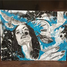 "⌛️ ""Freedom in Time""  Follow the artist:  @patmestizo  #artbotic #artist #art #"