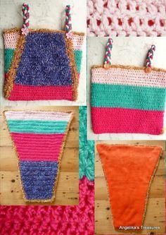 Cuddle Bag. Folded Crochet Bag
