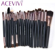 20 Pcs Professional Makeup Brushes Set Pó Foundation Sombra Delineador Lip Cosmetic Brushes Maquiagem StockClearance