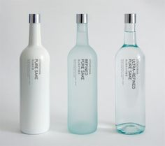Simple, minimalist bottle packaging