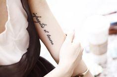 love this words : infragilis et tenera - unbreakable and tender