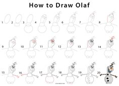 How to Draw Olaf (Step by Step Pictures)