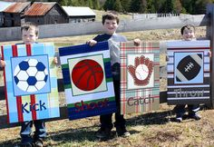 Set of 4 Extra Large Sport Canvas