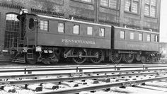 Vintage view of Pennsylvania Railroad DD-1 electric locomotives Nos. 3966 and 3967, built in the Juniata Shops in 1910