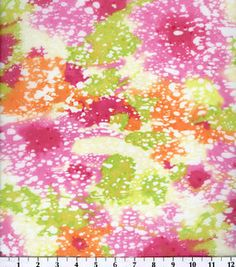 Simply Silky Print- Pink/Green Spots Duccos Chiffon : Fashion Collections : apparel fabric : fabric :  Shop | Joann.com