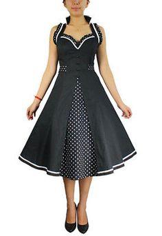 Plus Size Retro 50's Black Polka Dot Rockabilly Ruffle Dress 1x 2X 3X 4X   eBay