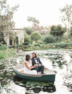 romantic boat portrait