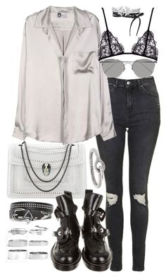 """Untitled #20052"" by florencia95 ❤ liked on Polyvore featuring Topshop, Bulgari, Balenciaga, Lanvin, Linda Farrow, Boohoo, Acne Studios and Fallon"