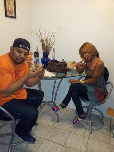 It's 4am and these 2 are still drinking! DJ Trixter & Lakisha.