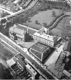Oblate Church and School, Tyrconnell Road, Inchicore made sacraments here. My running club was in held in the field in the back ☺ Ireland Pictures, Old Pictures, Old Photos, Dublin Street, Dublin City, Running Club, Photo Engraving, Ireland Homes, Irish Dance