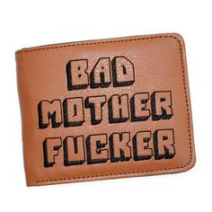 7c389e5d5f Pulp Fiction Jules Portafoglio con Tasca con cerniera Moneta Cattiva Madre  Lettere Ragazzi Supporto di Carta