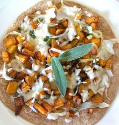 Vegan butternut squash tortilla pizza | Flickr - Photo Sharing!