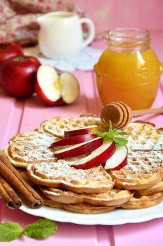 Waffeln mit steirischen Äpfeln