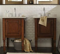 Siena Single Sink Console #potterybarn