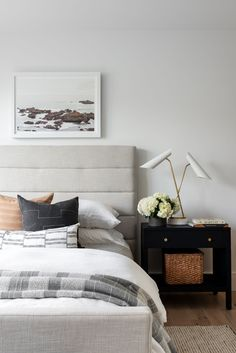 Our Lila Bed sets a high-end tone but approachable feel in your bedroom. Its quilted frame brings added comfort and a softened sense to its modern silhouette. Scandi Bedroom, Home Decor Bedroom, Master Bedroom, Bedroom Ideas, Master Master, Teen Bedroom, Bedroom Designs, New York Projects, Decor Inspiration