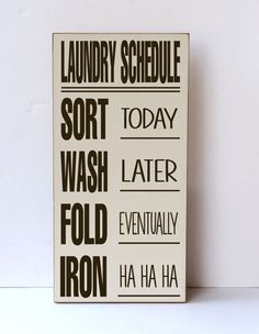 Laundry Sign Laundry Schedule Laundry Room Sign by vinylcrafts