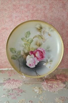 Beautiful Antique Porcelain RS Germany Plate