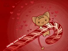 Candy Cane Hearts Wallpaper by lafhaha on DeviantArt