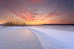 Snow on a Lake by Richard Egger | Earth Shots