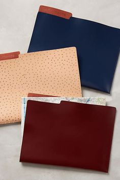 Love desk supplies as much as we do? Try these leather file folders from Anthropologie.