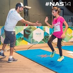 """""""Crown Prince Of Dubai"""" H.H Sheikh Hamdan bin Mohammed bin Rashid Al Maktoum was the first to receive the participants at the finish line yesterday at NAS sports tournament 2014.. Here in the picture he is receiving the youngest 9 years old participant Maryam Sarwash at the finish line, who won 5km run. #nas14 ▃▃▃▃▃▃▃▃▃▃▃▃▃▃▃▃▃▃ emojirepost from @NassSportsDubai"""