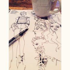 ink and coffee. all i need.