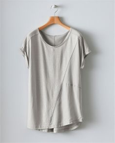 Poetry Fashion Panelled Tee Warm Grey