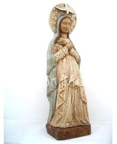 Our Lady of Advent Statue, dolomite and resin, made in France, $975. #MotherOfGod #MothersDay #CreatorMundi