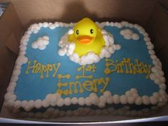 really like this cake.  @Laura Anzalone do you think you can help me make a cute rubber ducky cake for B/s first birthday? I pinned a few cute ones.