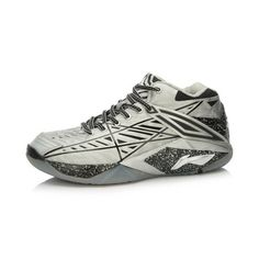 Li-Ning Glory Chen Long 2015 IBF World Badminton Championships Professional Badminton Shoes - Silver/Black on sale with Free Shipping | Free Shipping