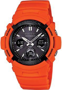 400ed6c5058 Casio G-Shock AWG-M100MR-4AER férfi karóra. A karóra elképesztő narancssárga