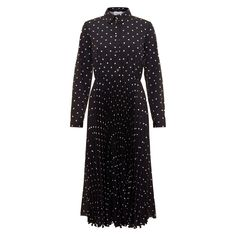 For the Emilia Wickstead 'Anatola' Black & White Polka-Dot Shirtdress Kate Middleton Dress, Emilia Wickstead, Dresses For Less, Princess Kate, Shirtdress, Duchess Of Cambridge, Polka Dots, High Neck Dress, Black And White