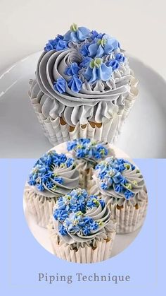 Elegant Cupcakes, Fancy Cupcakes, Pretty Cupcakes, Beautiful Cupcakes, Wedding Cupcakes, Cupcakes Kids, Making Cupcakes, How To Make Cupcakes, Birthday Cupcakes