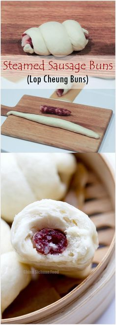 Steamed Sausage Buns (Lop Cheung Buns) | China Sichuan Food