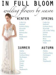 Seasonal Guide to Wedding Flowers