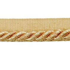 """1/4"""" Gloria Lip Cord - Metallic Gold 