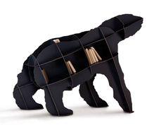 Ibride Bear Bookcase Joe - Black - Gifts for the Home Cool Bookshelves, Bookshelf Design, Bookcases, Book Shelves, Slim Bookcase, Large Bookcase, Cbx 250, Bibliotheque Design, Pallet Ideas