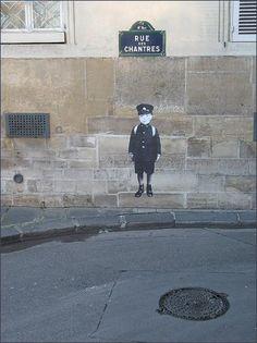 La rue des Chantres, par Leo & Pipo (Paris 4ème)