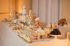 WedLuxe – An Elegant Silver and Ivory Wedding at Fairmont Royal York Cookie Table Wedding, Wedding Cookies, Wedding Desserts, Wedding Table, Elegant Dessert Table, Elegant Desserts, Ivory Wedding, Elegant Wedding, Luxury Wedding