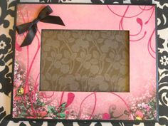 Picture frame.  Rockin' Pink by MarieJamesDesign on Etsy, $18.00