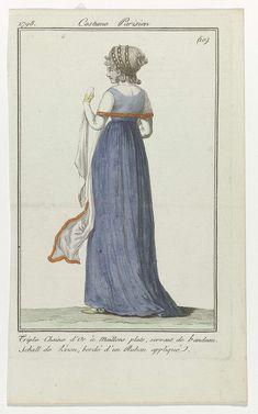 Journal des Dames et des Modes, Costume Parisien, 11 mars 1798, (10) : Triple chaine d'Or..., Anonymous, 1798