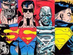A Morte e o Retorno do Super-Homem: Não é de hoje que reclamam que o Superman é bonzinho demais, escoteirão demais, com vilões bobos demais. O que fizeram então? mataram o Homem de Aço! E tem mais,criaram 4 novos personagens para assumir o legado. Tudo isso pra ele voltar num traje preto (dark!) e com mullets. #ReturnOfSuperman  #Superman #PipocaComBacon #Comics #Quadrinhos ipocacombacon.wordpress.com