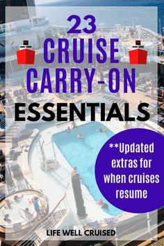 Wondering what to pack in your cruise carry on bag for embarkation day once cruises resume? We've got you covered with everything you need to make sure you're prepared with all the essentials. A perfect cruise carry on packing list for any cruise vacation! #cruisecarryon #cruisepacking #cruisemusthaves #cruiseitems #cruiseessentials #cruise