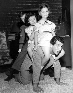 Craig, Gail, Claudia and Dean Martin. October, 1950