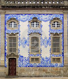 The Portuguese blue & white azulejos art in Porto; black & white pavement designs in Lisbon and Belém; and exquisite tile art of Sintra are amazing. Pavement Design, Make Your Own Story, Portugal Travel, Porto Portugal, Antique Tiles, House Tiles, Portuguese Tiles, Stock Foto, Facade House