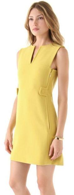 Rachel Roy Mini Mod Dress in Yellow