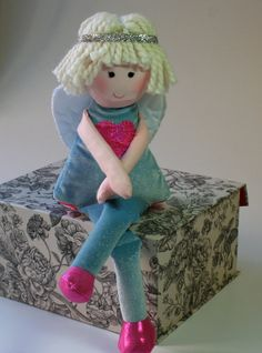 Soft eco friendly cloth doll Trinity she has by RagDollsRising....I AM IN LOVE WITH THIS ADORABLE LITTLE DOLL..I WANT IT NOW DADDY