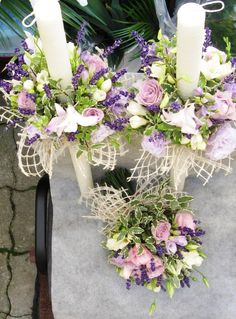 lumanari nunta - Căutare Google Flower Decorations, Wedding Decorations, Table Decorations, Baptism Candle, Bride Bouquets, Weeding, Wedding Shoes, Floral Arrangements, Floral Wreath