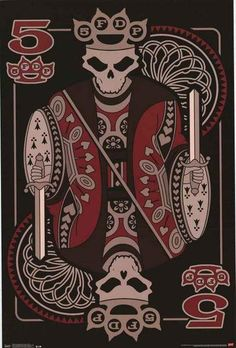 An awesome Five Finger Death Punch poster! This 5FDP playing card is aces! Fully licensed - 2014. Ships fast. 22x34 inches. Check out the rest of our great sele