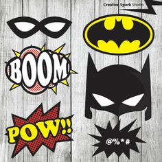 Superhero Props Batman  Robin Photo Booth by CreativeSparkStudio, £5.00